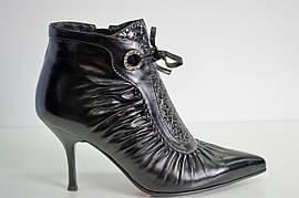Ботинки женские весна осень из натуральной кожи на каблуке