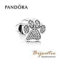 Pandora шарм ОТПЕЧАТОК ЛАПЫ 791714CZ серебро 925 Пандора  оригинал