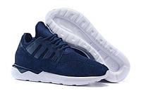 Кроссовки мужские Adidas Tubular Moc Runner Suede Blue (адидас, оригинал) синие