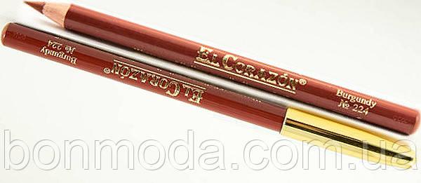Карандаш для губ EL Corazon № 224 Burgundy