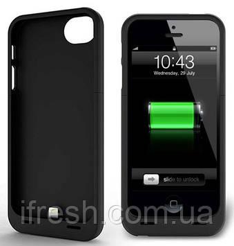 Чехол Аккумулятор 2200мА для iPhone SE/5S/5, черная