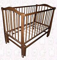 Детская кроватка Гнатик, шарнир-подшипник, бук