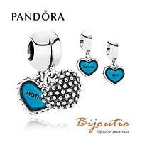 Pandora шарм МАМА И СЫН 791152EN08 серебро 925 Пандора  оригинал