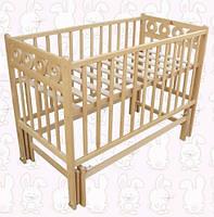 Детская кроватка Калачик, шарнир-подшипник, бук