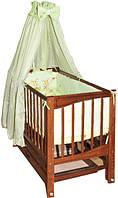 Детская кроватка Кристинка, шарнир-подшипник, бук