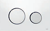Панель смыва ТЕСЕloop пластик, клавиши хром гл.