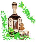 Бутылки декоративные, стаканы, графины