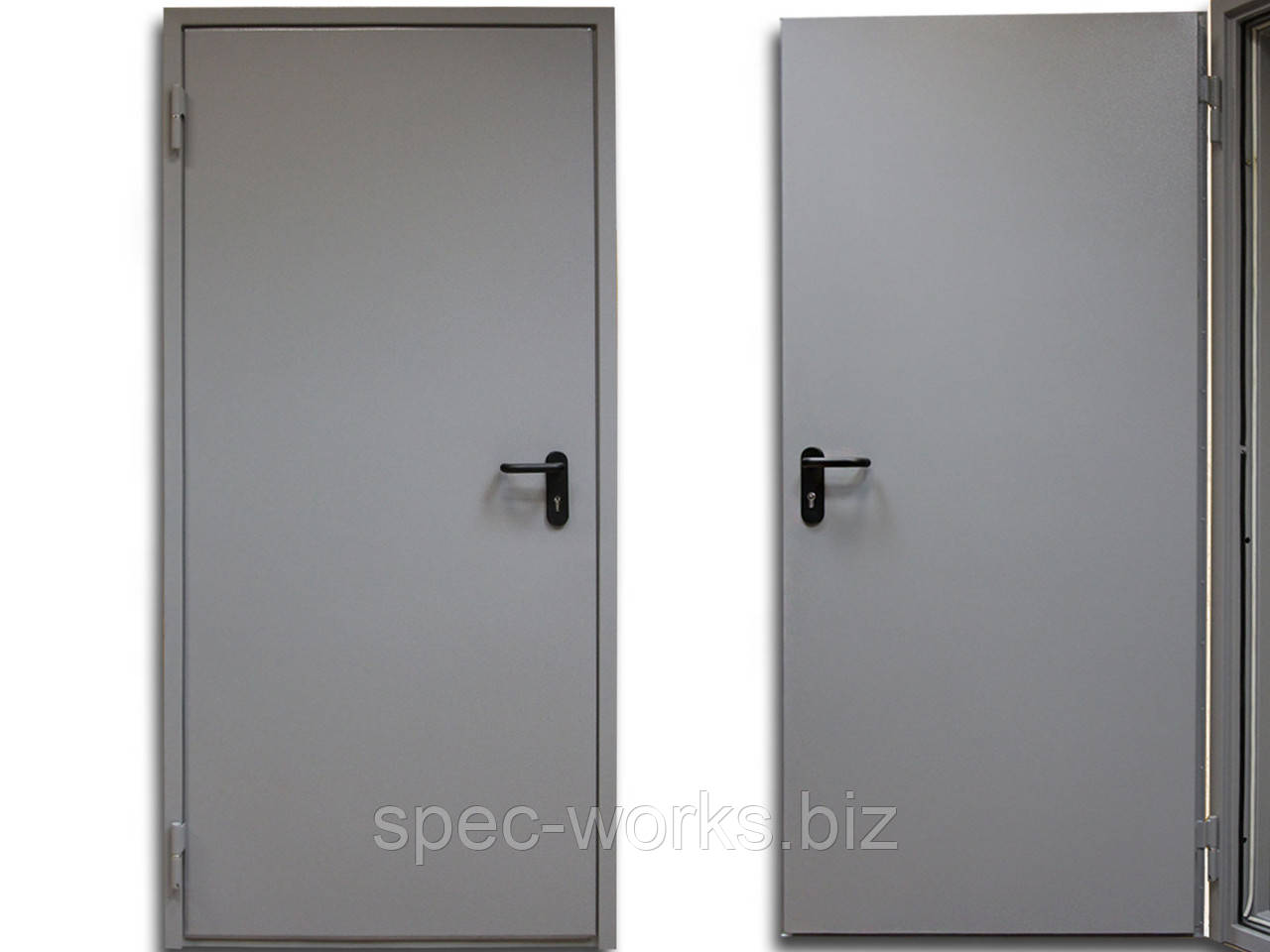 Противопожарная одностворчатая дверь ДПМ 60-1 1000 x 2100