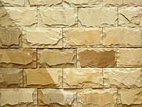 """Плитка Руст песчаник""""Ополье жолтое """" KLVIV ширина 10 см., лицевая сторона скол"""