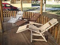Садовые и пляжные деревянные шезлонги из лиственницы сибирской