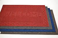 Коврик придверный К-35 Welcome резиновый с ворсом 73х116,5 см, фото 1