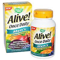 Цельнопищевой мультивитаминный комплекс для мужчин Nature's Way, Alive! Сделано в США., фото 1