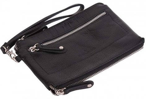 Оригинальная женская борсетка-кошелек Vip Collection 1515A flat черный