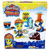 Игровой набор пластилина Hasbro Город: Житель и питомец (рабочий и щенок) Play-Doh