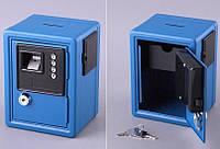 Кеш-бокс с кодовым замком и ключем, 12х10х16 см (голубой)