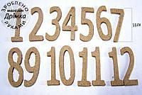 Цифры из ДВП h-3,5 см.