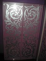 Стеклянные двери с рисунком на заказ