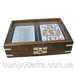 Набор карт из 2 - ух колод в деревянном кейсе купить по выгодной цене