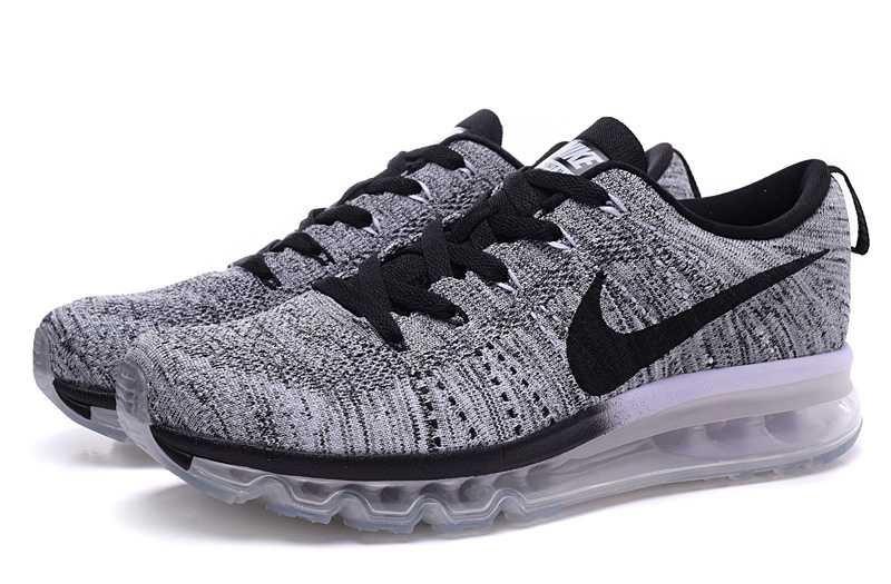 Мужские кроссовки Nike Flyknit Air Max серые - Интернет магазин обуви Shoes-Mania  в Днепре 9a1708a1a84