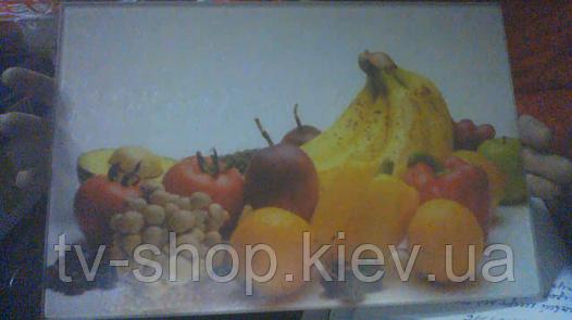 Доска кухонная стекло Фрукты-2 (20х30 см)