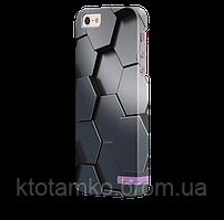 Чехол-накладка для iPhone 5/5S 3D соты