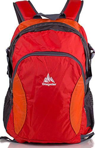Удобный городской, спортивный рюкзак 20 л. Onepolar W1798-orange