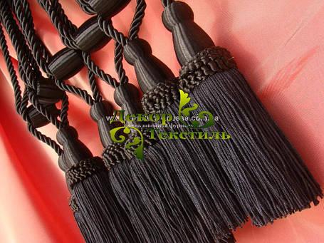 Декоративные кисти для штор, Чёрный (пара), фото 2