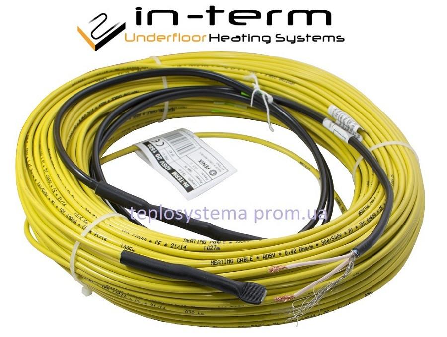 Теплый пол - Двухжильный нагревательный кабель IN-TERM 1300 Вт – 64 м (Fenix Чехия)