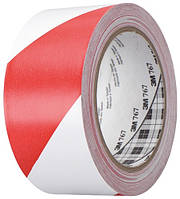 Маркировочная клейкая ПВХ лента 0,125ммх50ммх33м, красно-белая 3М 0767-І