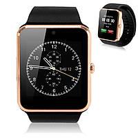 Умные смарт часы телефон Smart Watch GT08 Gold золотые аналог iwatch Apple GT-08 GT 08 часофон sony smartwatch