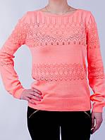 Женская нарядная кофточка кораллового цвета