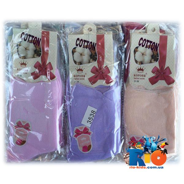 Детские  носочки 3538 , для девочек от 6-8 лет
