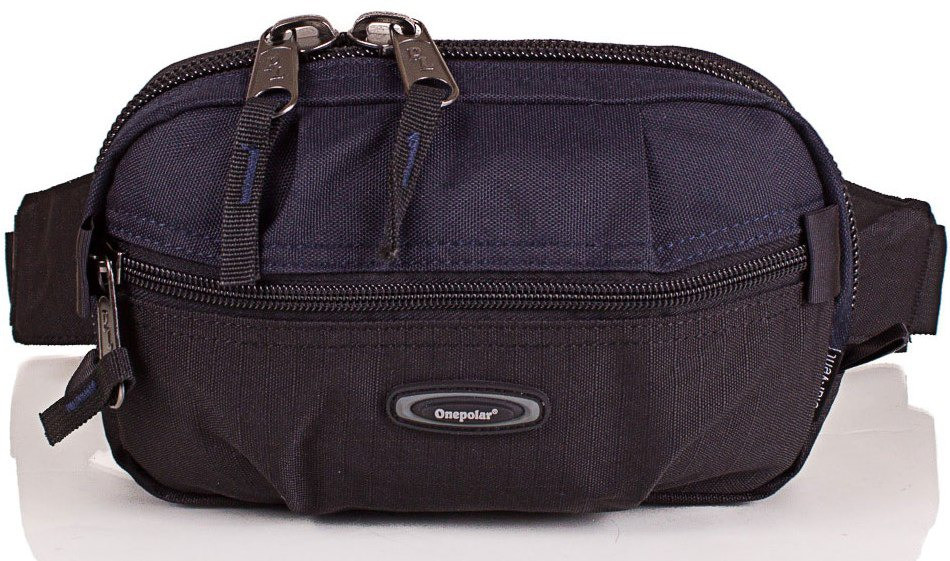 Мужская удобная поясная сумка Onepolar W3001-navy — только качественная продукция от SuperSumka