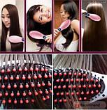 Электрическая расческа Fast Hair Straightener, выпрямитель для  волос, фото 6