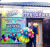 Шикарный букет в вазе из воздушных шаров