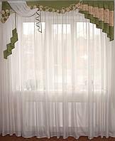 Жесткий ламбрекен Смайл зеленый, 2м, фото 1