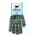 Перчатка трикотажная для садовых работ Presto-PS, № 105 бело/зеленая.