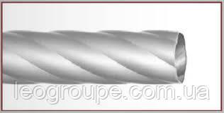 Труба крученая 25мм -сатин-1,8м