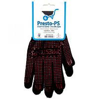 Перчатка трикотажная для садовых работ Presto-PS, № 105 черно/оранжевая.