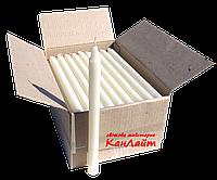 Свечи парафиновые (белые, h285*ø20, ящик 76шт)
