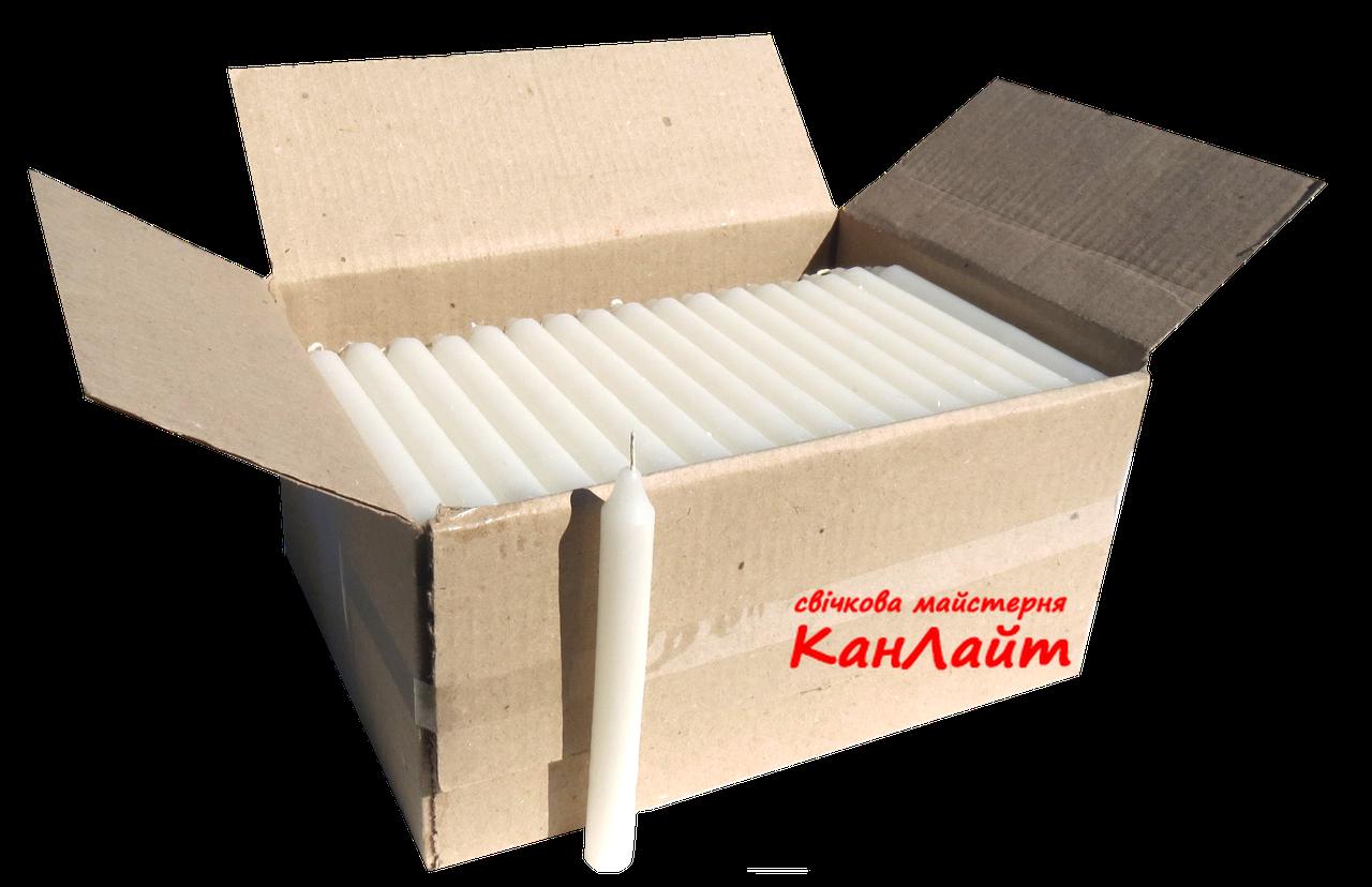 Свеча парафиновая (белая, h165*ø17, ящик 150шт)