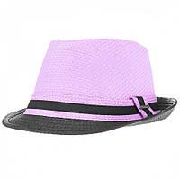 Шляпа Brezza  Федора светло-фиолетовая.