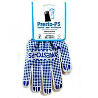 Перчатка трикотажная универсальная Presto-PS, № 110 бело/синяя.