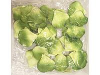 Лепестки роз свадебные желто зеленые  (600 шт.)