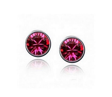 Серьги CZ Diamond (Красный)