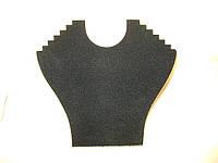 Чёрная подставка для для ювелирных украшений
