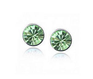 Серьги CZ Diamond (Светло-зеленый), фото 2