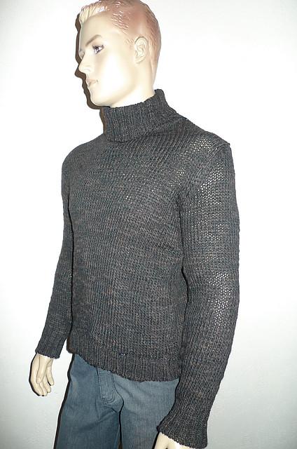 Мужской свитер с воротником-хомутом RCR ― Скидка !