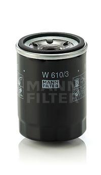 Фильтр масляный MANN W 610/3 для Honda Accord , Mitsubishi Outlander XL , Fiat Doblo , Mazda 626