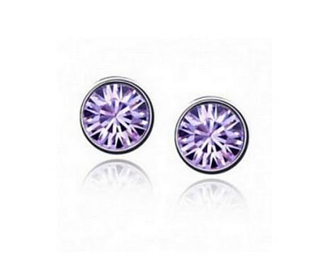 Серьги CZ Diamond (Фиолетовый)